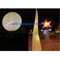 AC DC LED 640w - 800w Inflatable Lighting Decoration Moon Balloon Lighting Manufactures