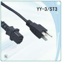 China UL ac power cord for Laptop Computers with 3pin standard plug on sale