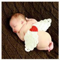 white colorful baby hat cap Baby Photography Prop Crochet wing beanie diaper cover set Manufactures