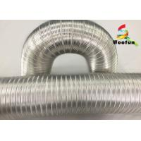 Heat Resistant Flexible Air Aluminum Air Duct Semi Rigid Fire Retardent Manufactures