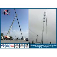 China Communication Monopole Mobile Antenna Tower For Broadcasting With Climbing Ladder on sale