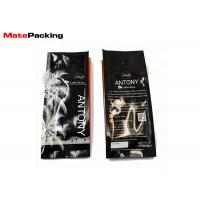 Glossy Side Gusset Bag Plastic Coffee Pouch With Degassing Valve Custom Printing Manufactures