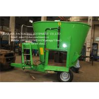 Stationary Feed Mixer For Farm Animal Feeding Mixing Vertical Green Color Manufactures