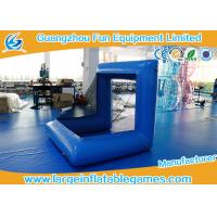 Blue Factory Air Sealed Inflatable Football Polo Goal Sport Game Inflatable Soccer Goal Post Manufactures