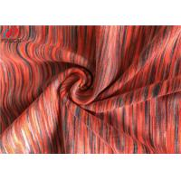 melange Weft Knitted Fabric Polyester Spandex Yarn Dyed Fabric For Sportswear Manufactures