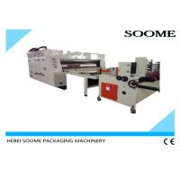 Rotary Flexo Printer Slotter Die Cutter , Printing Slotting Die Cutting Machine Speed 80Pcs / Min. Manufactures