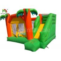 Rainforest theme 0.55mm PVC Funny Inflatable Jumping Castle For Children / Adult Manufactures