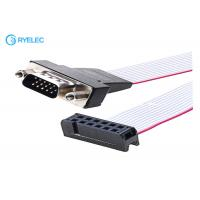 China 2x6P IDC To 15P HDB Male Idc Connector Computer Ribbon Cable , Flexible Flat Cable on sale