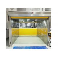 Cargo Air Shower Tunnel With PVC Fast Shutter Roller Door 304 SUS Cabinet Manufactures