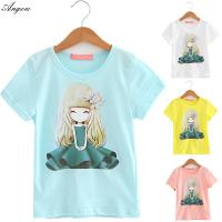 Quality Angou Cotton Branded Baby Girls T-Shirts Clothing Children Toddler Kids Clothes Short Tees for sale