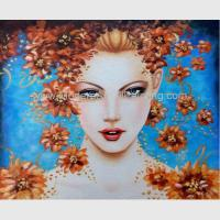 Contemporary Figurative Oil Painting Art Female Portrait Painting Newest Style Manufactures
