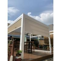 China Aluminum Wind Resistant Outdoor Roller Blinds With Gazebo Pergola on sale