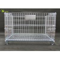 Galvanized Wire Pallet Warehouse Stacking Turnover Box , Industry Storage Shelf Manufactures
