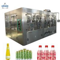 China Soft Drink Beverage Filling Machine 6000 BPH Filling Speed For PET Bottle on sale