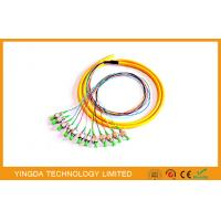 China Patch Panel APC / FC Fiber Optic Pigtail / Patch Cords 8 Cores 12 Cores Green Tight Buffer on sale
