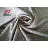 China 75D / 32S Weft Knitting Ployester Spandex Fabric , Embossed Elastic Lining Fabric on sale