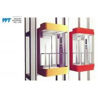 China Most Stops 36 Panoramic Glass Elevator With Permanent Magnetic VVVF Door Operator on sale