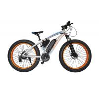48v Electric Mountain Bike , Front Disc Brake Electric Powered Bicycle Brushless Motor Manufactures