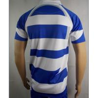 Mens Blue And White Rugby Shirt  Rugby Training Wear 100% Polyester Fabric Manufactures