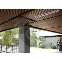 Modern Strip Ceiling Panel WPC ECO Composite Wood For Indoor Decoration Manufactures