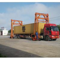 Different Lift Height Gantry Container Crane , Port Gantry Crane 40 Ton Loading Capacity Manufactures