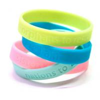 Sports Custom Silicone Bracelets Ecofriendly Colorful Yellow / Blue Manufactures