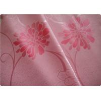 """Beautiful Pink Flower Polyester Elastane Fabric Cloth 57"""" / 58"""" Width Manufactures"""