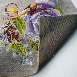 Latest design sofa chenille microfiber upholstery jacquard fabric Manufactures