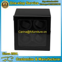 China High end watch winder with MDF in black high gross finish 4 rotors 4 motors for 4 watches on sale