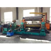China Hot Rubber Compound Mixing Process / Cast Steel Two Roller Rubber Mixing Mill Machine on sale