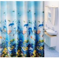 Kids Polyester Bathroom Window Shower Curtain With Duck / Palm Pattern Manufactures