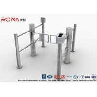 High Speed Swing Barrier Gate Double Core Biometric Stainless Steel for Fitness Center