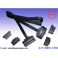 PVC 16 Pin Male OBD2 Wire Harness , EOBD / Car Scanner / Can Fault Code Reader Manufactures