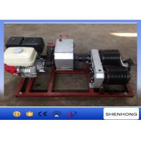 5 Ton Electric Cable Pulling Winch / Double Capstan Winch With Honda GX390 Gasoline Engine Manufactures