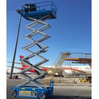 Small Hydraulic Man Lift Equipment For Indoor And Outdoor Construction Scissor Lift Lift Capacity 227kgs Manufactures