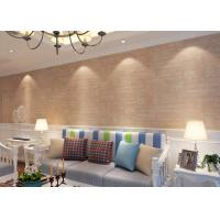 China Soft Non - Woven 3D Texture Brick Effect Wallpaper For Living Room Decoration , CSA Listed on sale