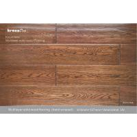 China Natural Vertical Glossy Multilayer Flooring , Grade A solid wood floor on sale