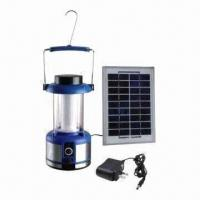 China LED solar camping light with 6V/2.5Ah lead-acid battery on sale