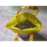 Quality Hand Held Durable Polyester Drawstring Bag Silk Screen Printing Surface for sale
