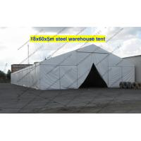 China Firm 18m Steel Frame Warehouse Storage Tent , White PVC Fabric Tent For Storage on sale