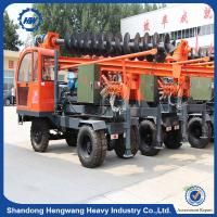 China Solar plant ground screw pile driver /hydraulic press pile driver on sale