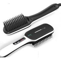 2019 Popular Anion Lcd Display Electric Straightening Hair Brush Iron Hair Straightener Brush Comb Manufactures