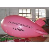 Large Pink Inflatable Balloons Airship Model For Advertising Event / Airship Balloon Flying for sale