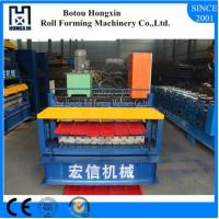 Building Double Layer Roll Forming Machine 0.3 - 0.8mm Plate Thickness Manufactures