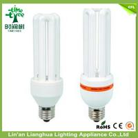 CFL 3U Shaped Compact Fluorescent Light Bulbs 18W 12mm 7000K Lamp Manufactures