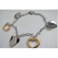 Fashion Jewelry 316L Stainless Steel Chain Bracelets with Heart Design Manufactures