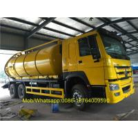 SINOTRUK Howo 6x4 18CBM Vacuum Suction Sewer Cleaning Sewage Tanker Truck Manufactures