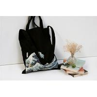 100% Canvas Reusable Black Tote Bags - 12oz. Thick Material Canvas Shopping Bags Manufactures