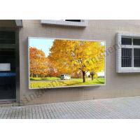 65536 Grey Scale Advertising Led Display Screen P10 With Aluminum Cabinet Manufactures