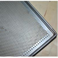 Metal Perforated Baking Serving Tray For Oven , Stainless Steel Food Tray Manufactures